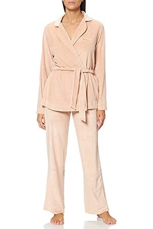 Emporio Armani Shiny Fluwelen jas en broek voor dames.