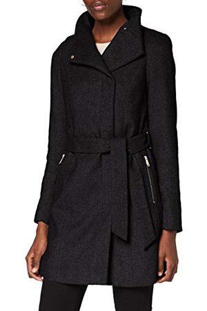VERO MODA Vrouwelijke jas wol, dark grey melange, XL