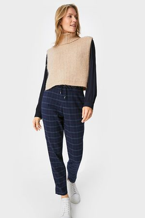 C&A Broek-tapered fit-geruit