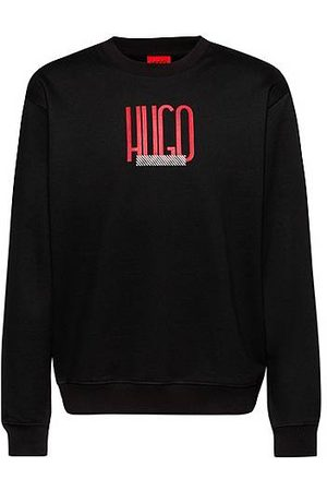 HUGO BOSS Relaxed-fit sweatshirt in French terry with logo print