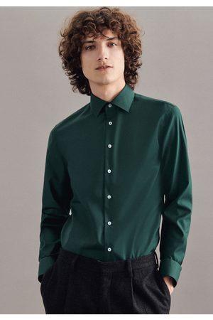 Seidensticker Businessoverhemd SLIM Slim lange mouwen kentkraag uni