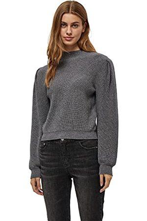 DESIRES Dames DITA Funnneck Pullover Sweater, Grey Mel, L