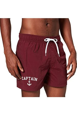 Mister Tee Captain zwemshorts voor heren, (cherry), XL