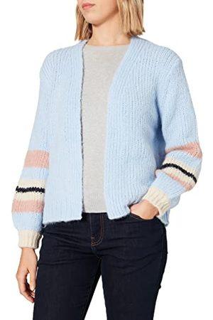 Pieces Dames Pccarmen Ls Knit Cardigan Bc gebreide jas, Kentucky Blue/Stripes: misr-dawn-sky Captain, L