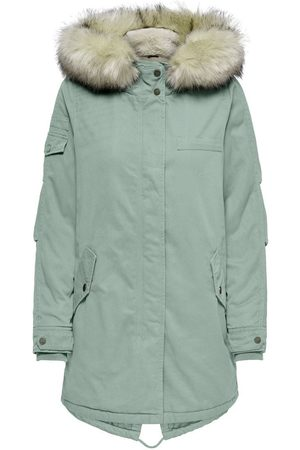 ONLY Canvas Parka Dames Blauw