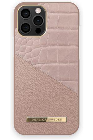 IDEAL OF SWEDEN Dames Telefoon - Atelier Case iPhone 12 Pro Max Rose Smoke Croco