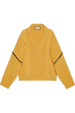 Gucci Heren Sweaters - Cable knit sweater with detachable sleeves