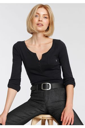 ARIZONA Dames Lange mouw - Shirt met lange mouwen met knoopsluiting