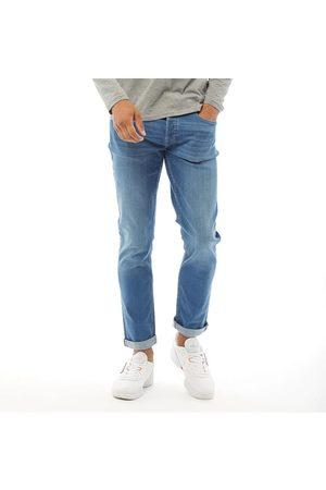 FLUID Heren Loose Fit Jeans Middelblauw