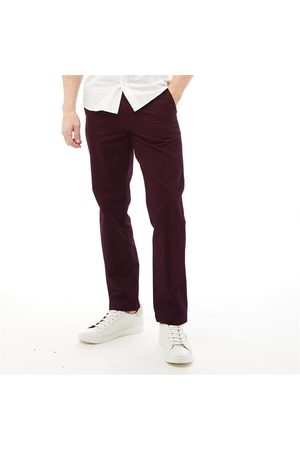 Onfire Heren Straight Fit Chino's Donkerbordeauxrood