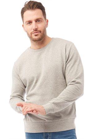 Kangaroo Poo Heren Sweater Gemeleerd Lichtgrijs