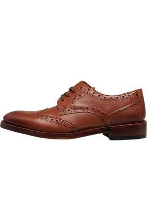 Onfire Heren Goodyear Welted Brogues Donkerbruin