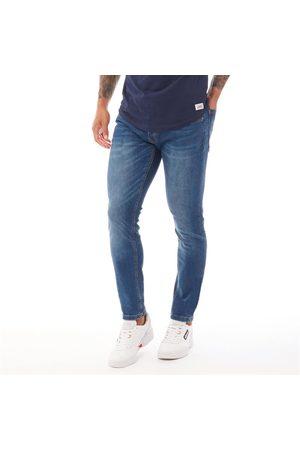 Crosshatch Heren Barbeck Slim Jeans Middelblauw