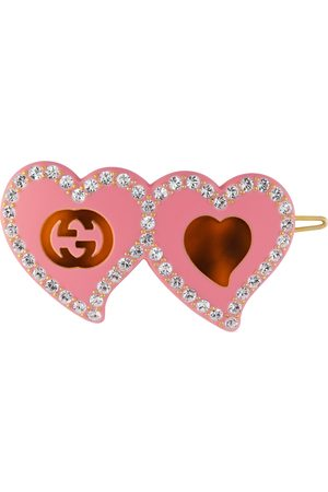 Gucci Hair clip with GG and hearts