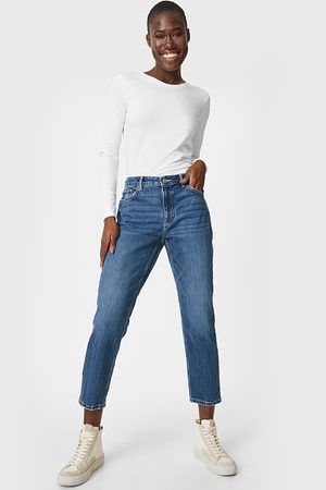 C&A Dames Straight - Straight tapered ankle jeans-Cradle to Cradle™ goudcertificaat