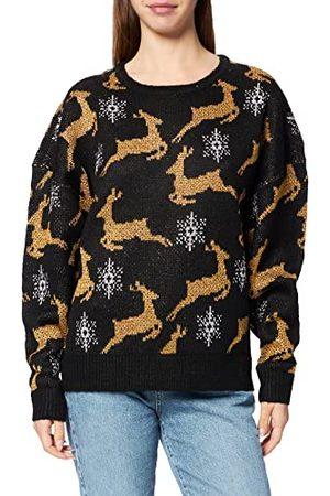 Urban classics Dames Dames Oversized Christmas Sweater Sweatshirt, / , S