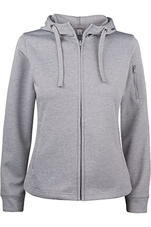 CLIQUE Dames Basic Active Hoody Lady Full Zip Hooded Sweatshirt, Melange, L