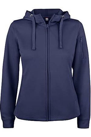 CLIQUE Dames Basic Active Hoody Lady Full Zip Hooded Sweatshirt, Donkere marine, XXL
