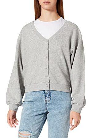 ONLY Dames Onlwanted Lt L/S Sweat Cardigan SWT sweatshirtjas, lichtgrijs gem., XL