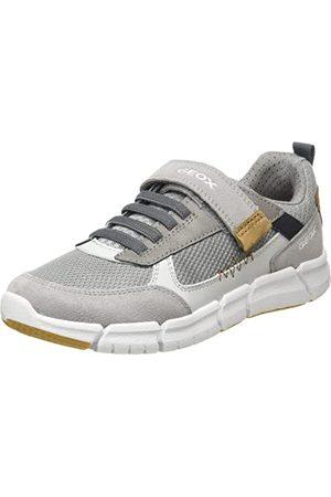 Geox J Flexyper Boy B Sneakers voor jongens, Grey Cognac, 33 EU