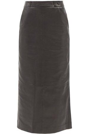 Raey Leather Pencil Skirt