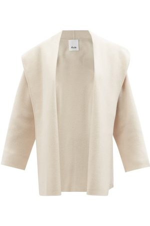 Allude Hooded Wool-blend Cape Jacket