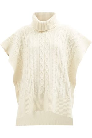 See by Chloé Roll-neck Wool-blend Poncho