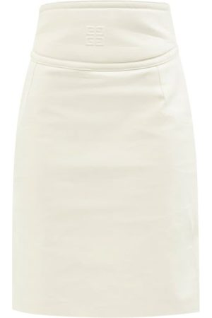 Givenchy 4g-embossed Cutout Leather Pencil Skirt