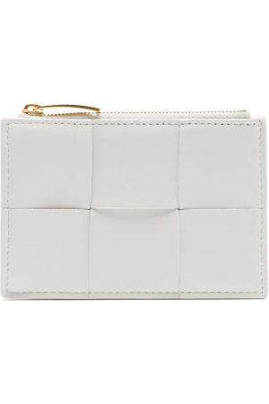 Bottega Veneta Cassette Woven Leather Cardholder