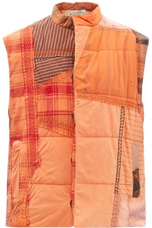 BY WALID Teddy Patchworked-cotton Quilted Gilet