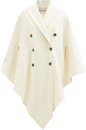 ALEXANDRE VAUTHIER Double-breasted Felted-wool Cape Coat