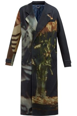 Charles Jeffrey Loverboy Double-breasted Printed Felt Overcoat