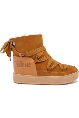 See by Chloé Charlee Shearling-lined Suede Snow Boots