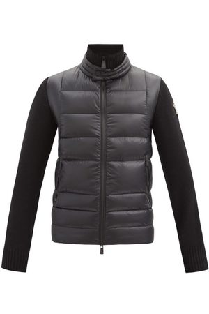 Moncler Logo-patch Jersey-sleeve Quilted Down Jacket