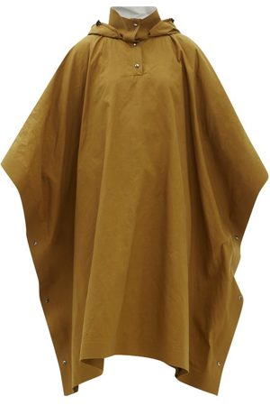 Kassl Editions Hooded Waxed Cotton-blend Gabardine Poncho