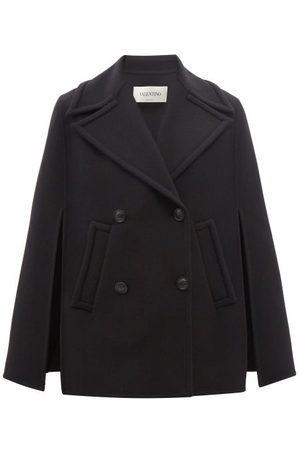 VALENTINO Double-breasted Wool-blend Twill Cape Coat