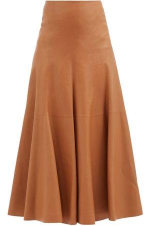 Chloé High-rise Leather A-line Skirt
