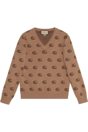 Gucci Heren Sweaters - GG knit cashmere jacquard sweater
