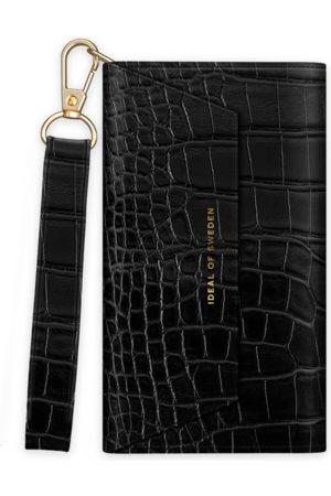 IDEAL OF SWEDEN Dames Telefoon - Cassette Clutch iPhone 13 Mini Black Croco