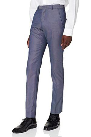 SELECTED Heren Shdone-maze M. Blue Struct. Trouser Sts pak broek, (Medium Blue Melange Medium Blue Melange), 44 NL