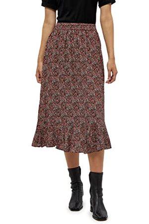 Minus33 Anina Skirt voor dames, Lipstick Red Flower Print, 36