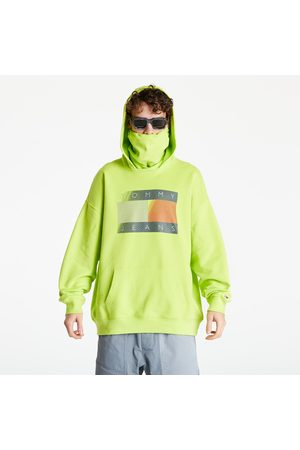Tommy Hilfiger Reflective Flag Hoodie Neo Lime